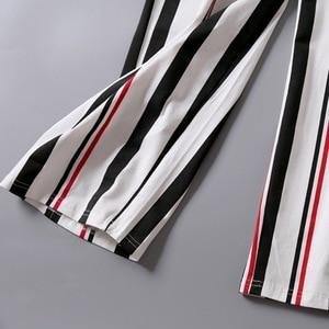 Image 5 - V NeckWomen Cotton Sleepwear Bow Pyjamas Women Stripe Female Suit Fashion Women Pajamas Autumn Long Sleeve Home Wear Comfortable