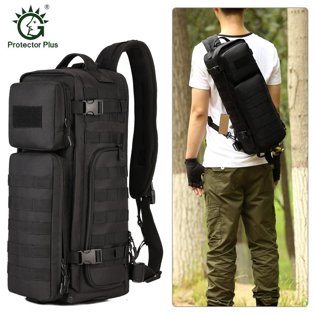 Tactical Sling Bag Pack Military Shoulder Backpack Man Large Travel Assault Backpacks Molle Bags Outdoors Camping Rucksack