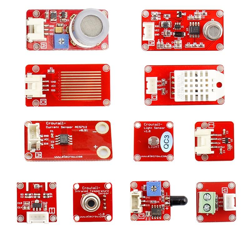 Elecrow Crowtail Serson Starter Kits Capteurs D'environnement Crowtail BRICOLAGE Modules Combinaison Kit pour Arduino Programmation Apprenants