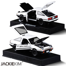 New INITIAL D Toyota AE86 1:28 Alloy Car Model Anime Cartoon Fast Furious With Pull Back Sound Light For Boy Toys Free Shipping(China)