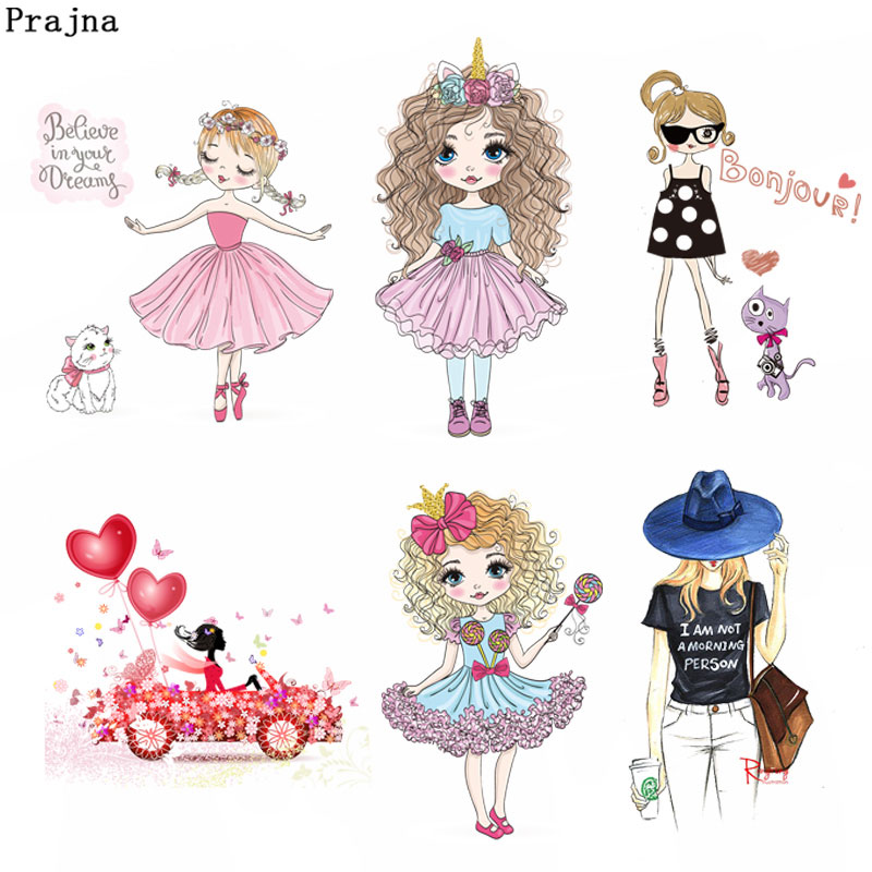 graphic about Printable Patches referred to as US $1.12 34% OFFPrajna Sweet Lady Warm Go Patches Vinyl Washable Stickers Float Iron Upon Transfers For Youngsters Quality A Printable Patch F-inside Patches