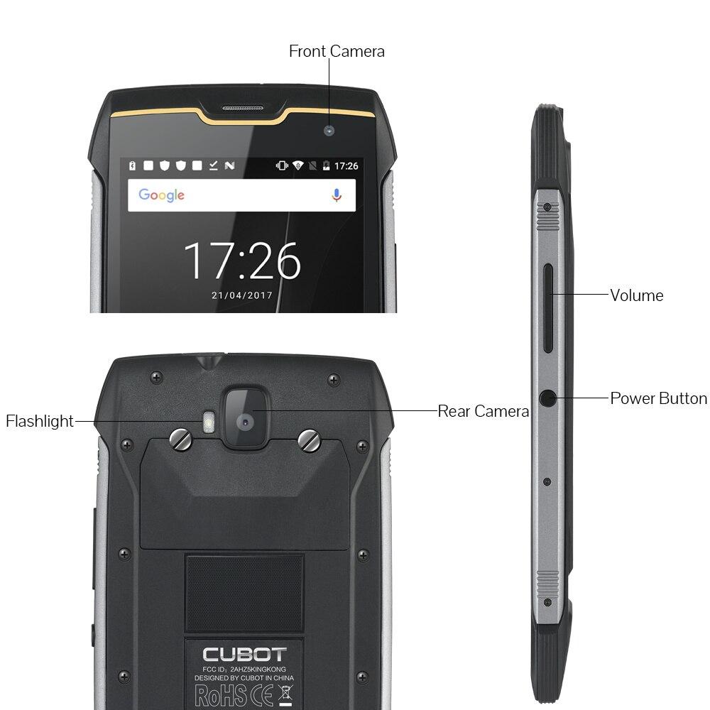 Image 5 - Cubot KingKong IP68 Rugged Phones 4400mAh Big Battery Waterproof Smartphone 3G Dual SIM Android 7.0 2GB+16GB Compass+GPS MT6580Cellphones   -