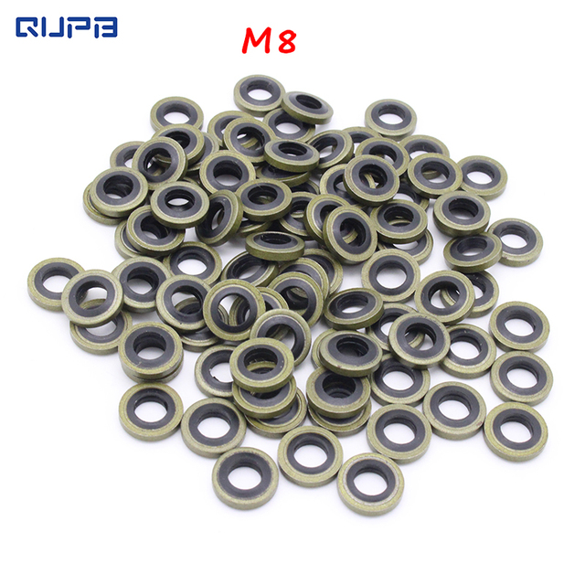 M8 Washer Metal and Rubber Combination Gasket for High Pressure Air ...