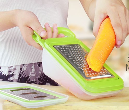 Solid color stainless steel multifunctional shredder paring knife fruits and vegetables grater potato cutting yarn wire
