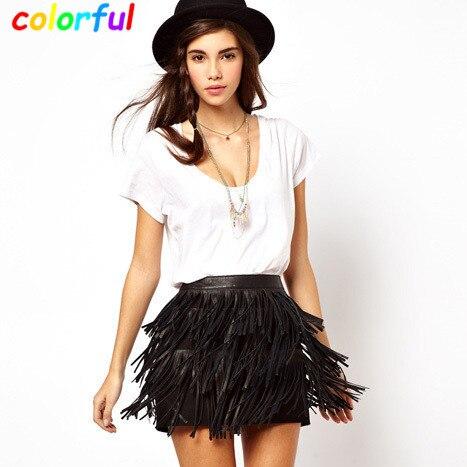 Popular Leather Tassel Skirt-Buy Cheap Leather Tassel Skirt lots ...