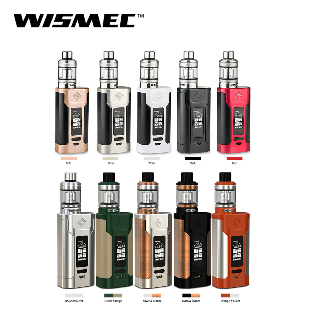 Official Store Wismec SINUOUS Predator 228 box mod with Elabo Tank 4 9ml Capacity Electronic