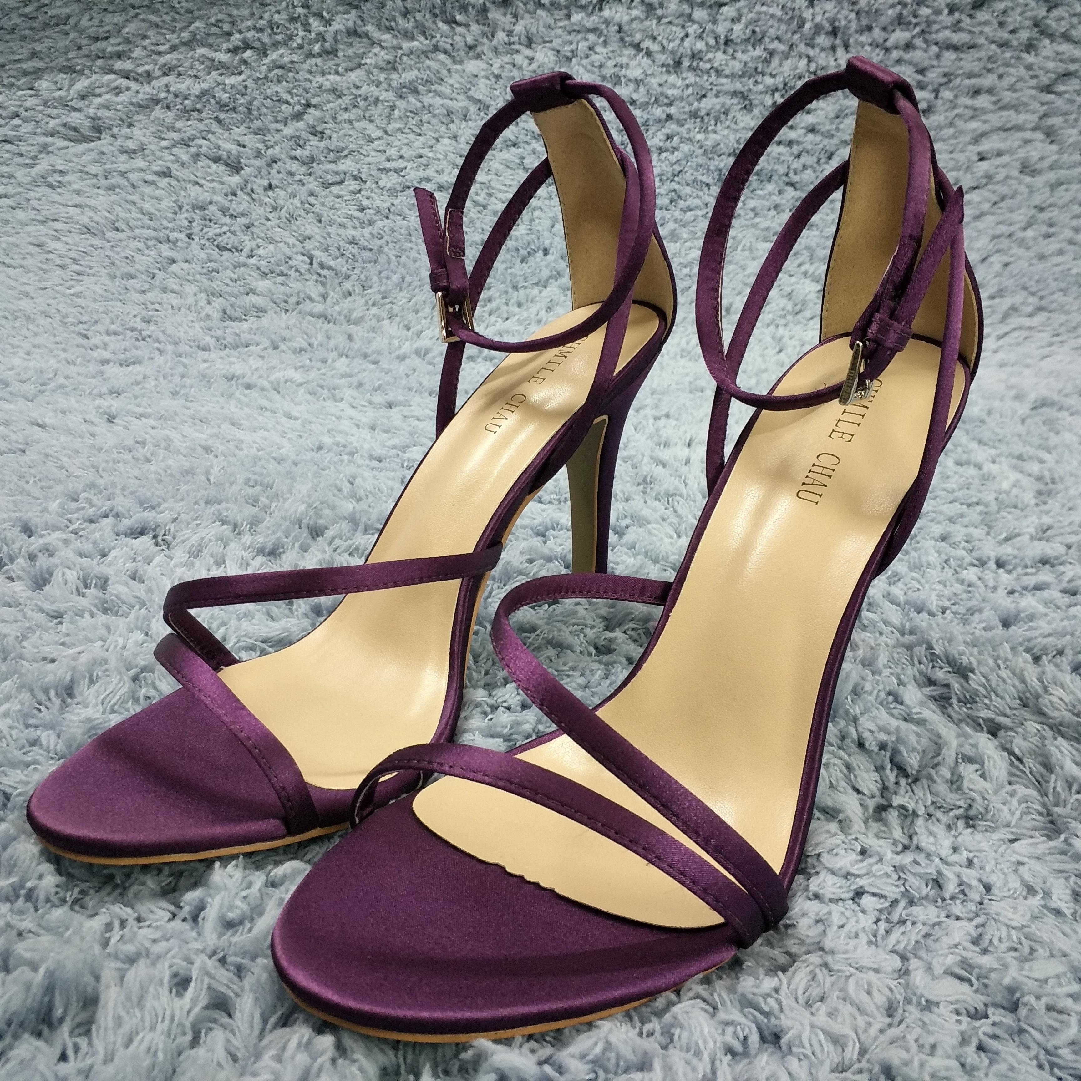 Purple Ankle Strap Heels