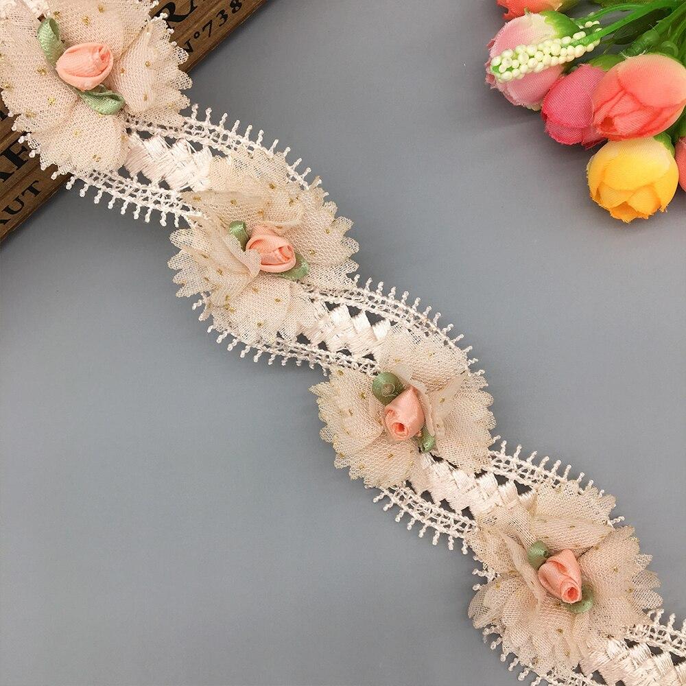 3 Yard Vintage Black Floral Lace Edge Trim Ribbon Applique DIY Sewing Crafts