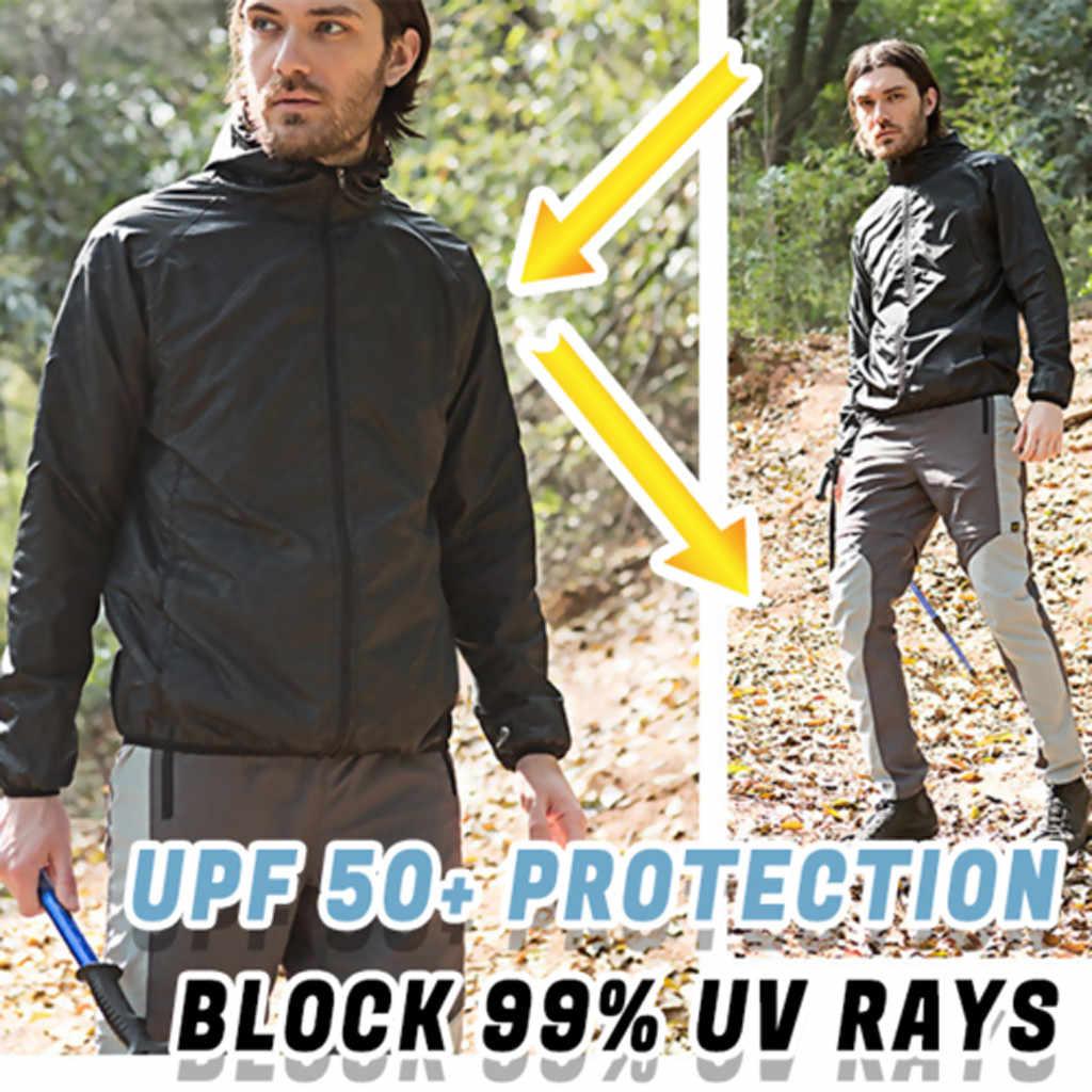 男性の女性カジュアルジャケット防風超軽量防雨ウインドブレーカーポケットトップアウトドアスポーツハイキング保護ジャケット