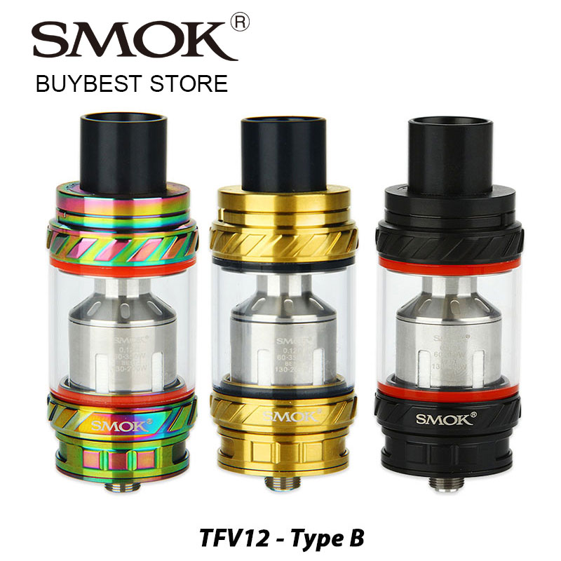 Izvorni SMOK TFV12 spremnik zvijeri 6 ml Kapacitet Tip B verzija s predinstaliranim V12-RBA / V12-RBA-T Trostrukim zavojnicama E-cig Vape spremnik