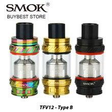 SMOK origine TFV12 Bête Réservoir 6 ml Capacité Type B Version avec Pré-installé V12-RBA/V12-RBA-T Triple Bobines E-cig Vaporisateur Réservoir