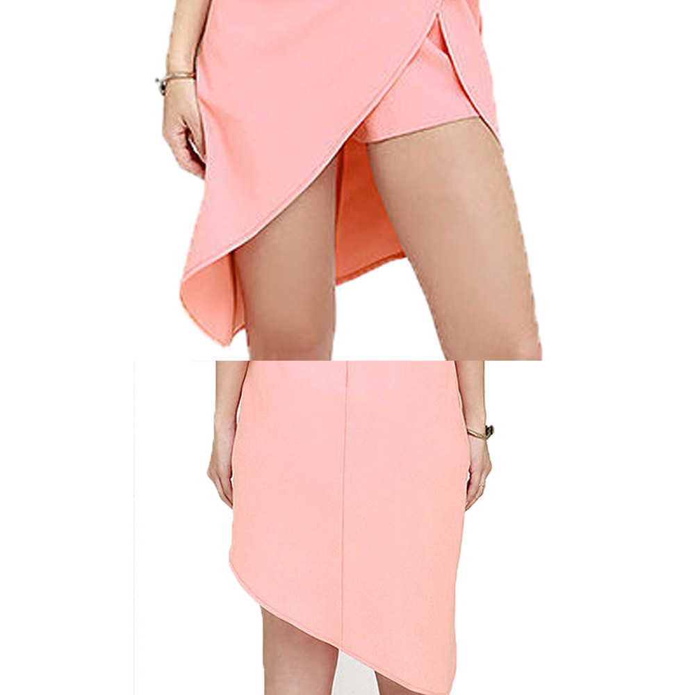 eda6f1e7febd Women Summer Sexy Strapless Jumpsuit Bodysuit Womens Fashion Asymmetrical  Mini Playsuits Leakage Shoulder Pink Beach PantsCSJ26-in Rompers from  Women s ...