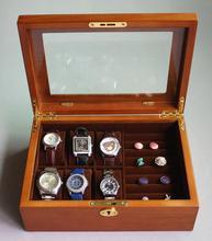 Роскошные Оригинальные деревянные 6-слот деревянная коробка вахты часы окно роскошные часы коробка ювелирных изделий часы дисплей MSBH005b