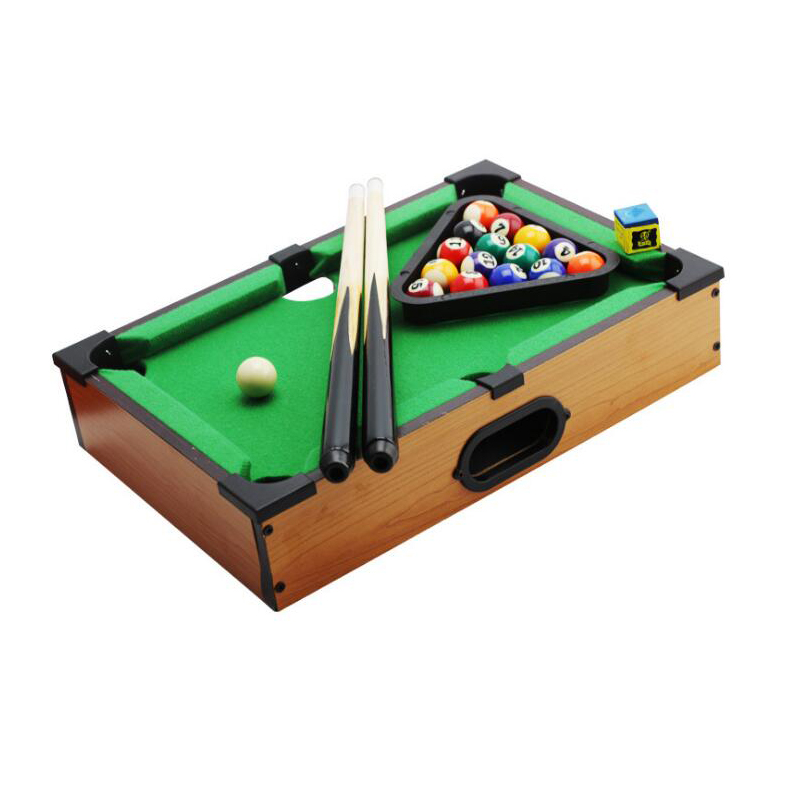 Funny Mini Size Table Billiards Competition Triumph Game Accessory Indoor Sports For Game Rooms Bed Rooms College Dorms desktop mini mini pool snooker table game set green size m