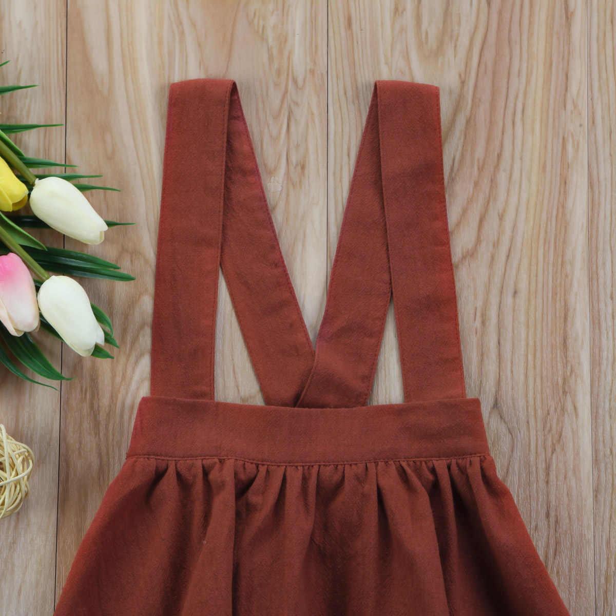 2018 г. весенний комбинезон для маленьких девочек коричневого цвета, юбка-пачка модная детская одежда От 6 месяцев до 3 лет