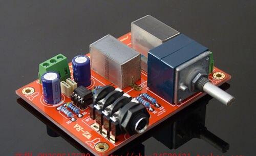 WZ-RA bricolage assemblé carte casque amplificateur de puissance base sur RA1 avec 27 potentiomètre