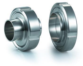 Sanitary stainless steel welding union SMS round thread