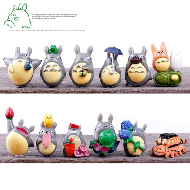 купить 1Pcs Children's toys small and cute Hayao Miyazaki Totoro doll ornaments micro landscape decoration umbrellas Totoro онлайн