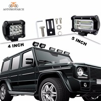 Newest Super Bright LED Work Light Bar 4 5 INCH Beam On The Car Vehicle Lighting