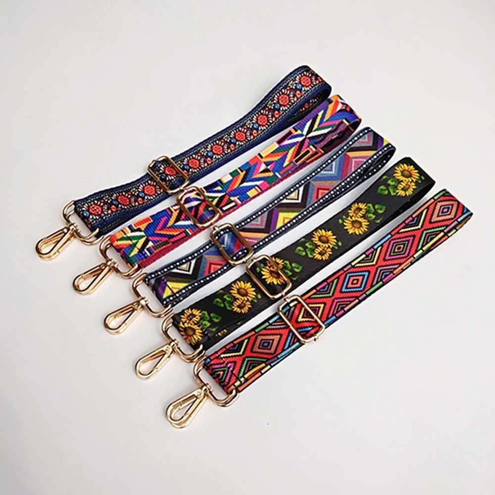 Herald Модный Цветной ремень сумки ремень аксессуары для женщин Радуга регулируемые ремешки на плечо для сумки декоративный орнамент