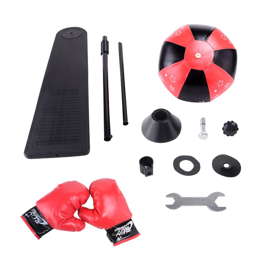 Vertical Punching Ball With Stand And Gloves Inflatable Big Boxing Sandbag With Adjustable Height Improve Hand