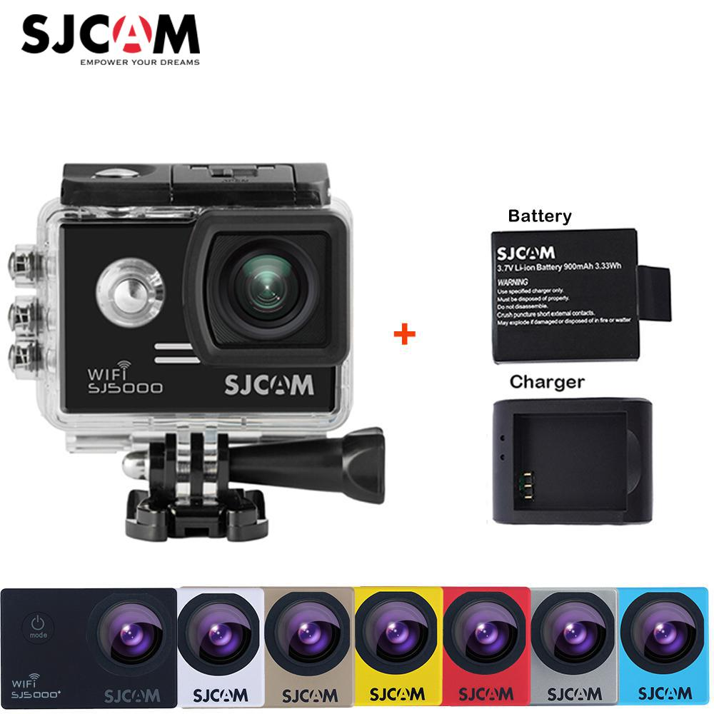 Original SJCAM SJ5000 WiFi Novatek96655 14MP 1080P 30M Waterproof Sports Action Camera Car Mini DVR+Extra Battery+Charger