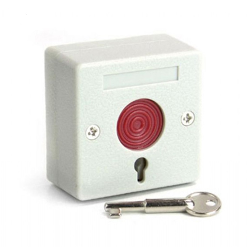 2pcs Wired Emergency Button Wired Panic Button 3 Static Current Can work with GSM font b