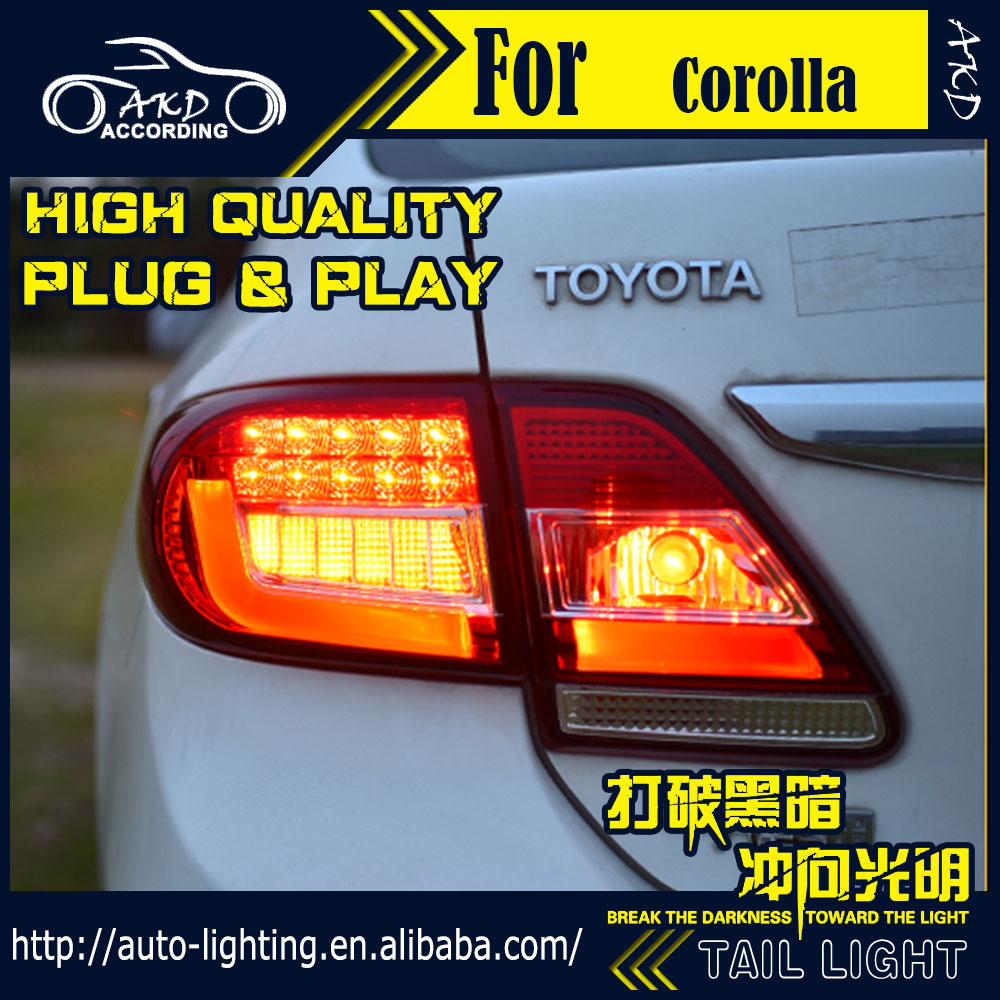 Akd car styling tail lamp for toyota corolla tail lights 2011 2013 led tail light