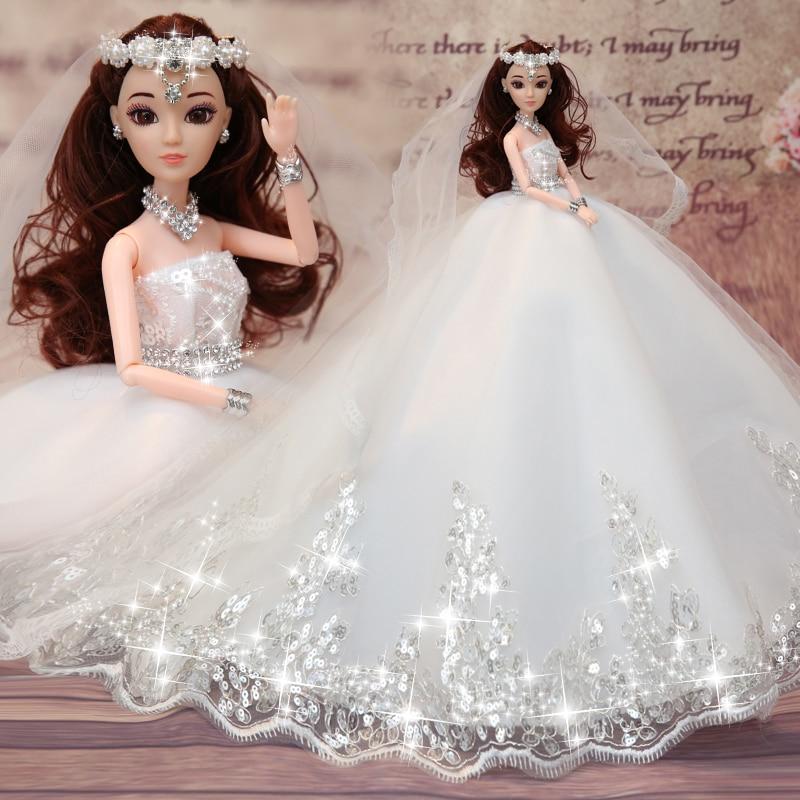 חם למכור 45CM שמלת כלה בובה צעצועים כיתה העליון קבל בובות נשוי יום הולדת מתנה עבור בנות מתנה לילדים 20