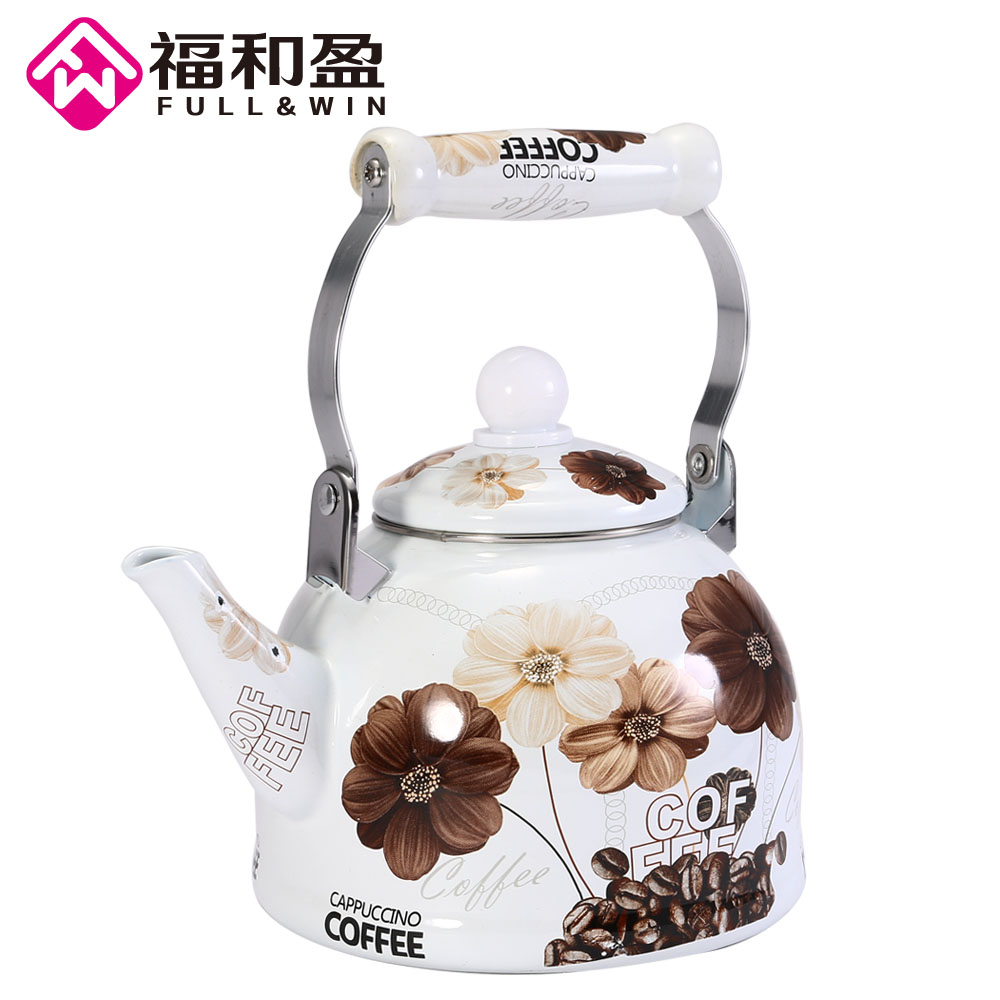 2L Chinese Traditional Enamel Teapot Vintage Loose Leaf Tea Coffee Pot Kettle Enamel Coated Steel Vintage