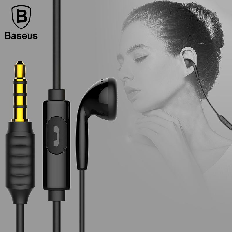 все цены на Baseus Single In-Ear Earphone With Mic Jack 1.2M Wired Stereo Headset Handsfree Earbuds Earphone For iPhone Xiaomi Mobile Phone онлайн
