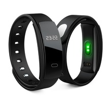 Smartch Новый QS80 смарт-браслет сердечного ритма крови Давление фитнес-трекер smart electronics 0.42 дюймов TFT OLED браслет