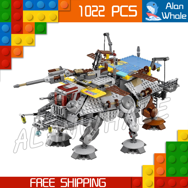 1022pcs New Space Wars Universe 05032 Captain Rex's AT-TE Model Building Blocks Toys instruction Bricks Compatible with Lego 499pcs new space wars at dp robots 10376 model building blocks toys gift rebels animated tv series bricks compatible with lego