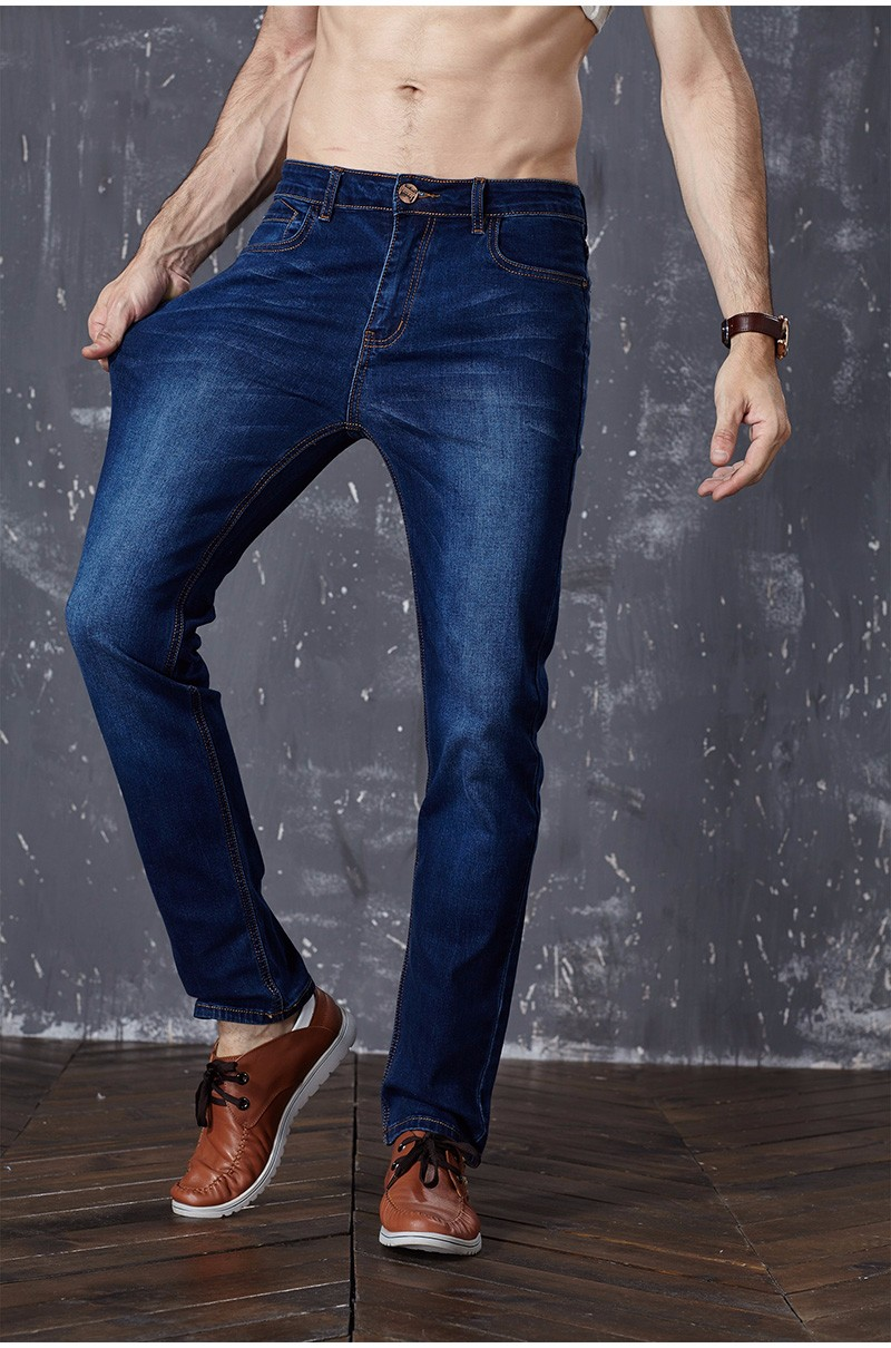 Drizzte Brand New Fashion Mens Jeans Slim Stretch Pants Thin Denim Trousers Size 35 36 38 40 42 Lightweight Jeans for Men 2