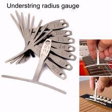 9Pcs Guitar Bass Metal Under String Radius Gauge Setup Luthier Stainless Steel  Set