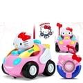 Дети RC Игрушки Hello Kitty KT Cat Дистанционного Управления Автомобилем Doraemon Розовый Электронная Музыка Light up Милые Забавные Дети Подарок