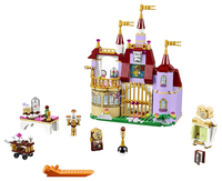 37001 Beauty And The Beast Princess Belles Enchanted Castle Building Blocks For Girl Kids Model Toys
