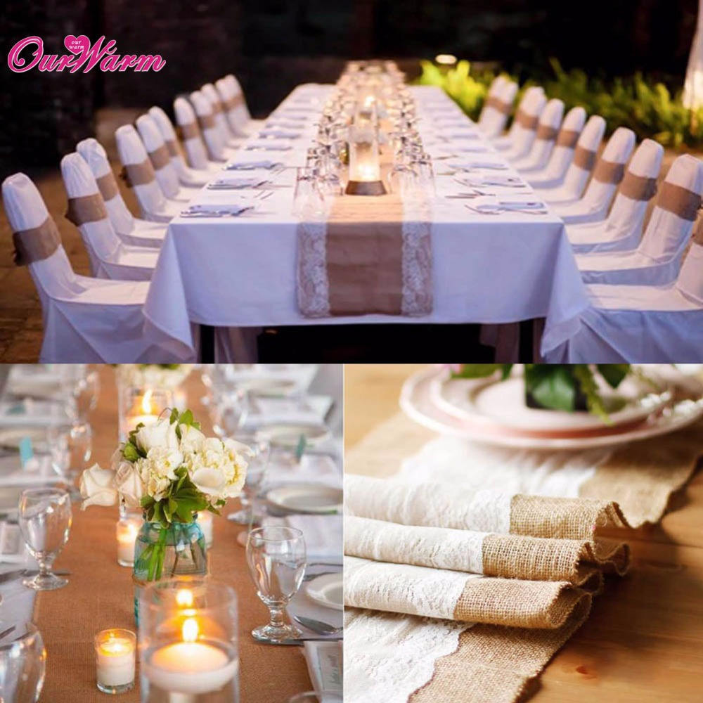 Aliexpress.com : Buy 10Pcs Wedding Table Runners Vintage Natural ...