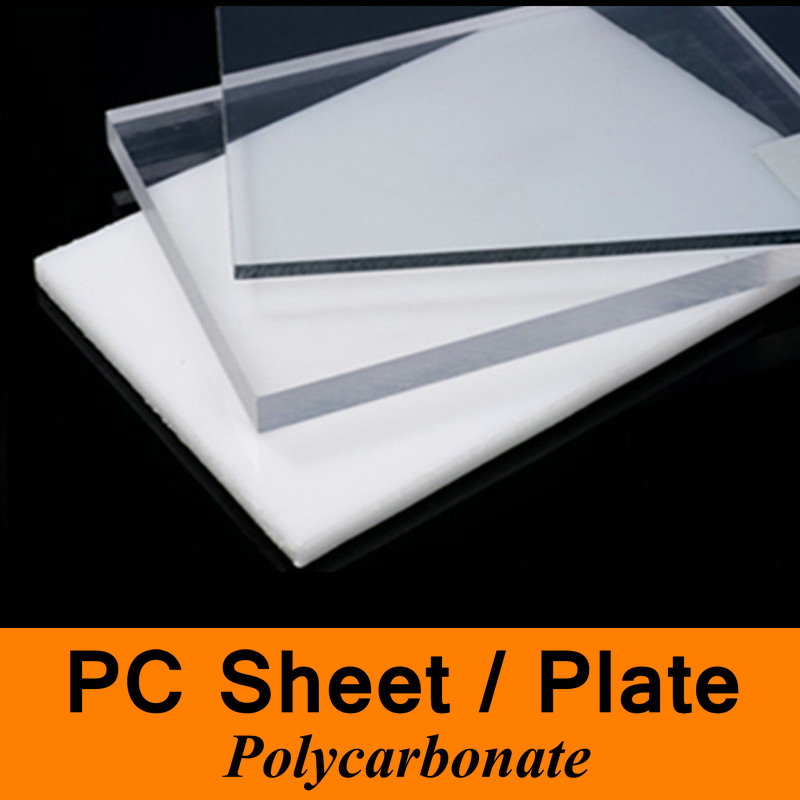 PC Polycarbonate Sheet Plate Board Protective Plastic Cover Plate of Solar Auto Darkening Welding Mask Welding DIY Sculpture 7 inch black round plastic rotary plate turnplate clay pottery sculpture tool