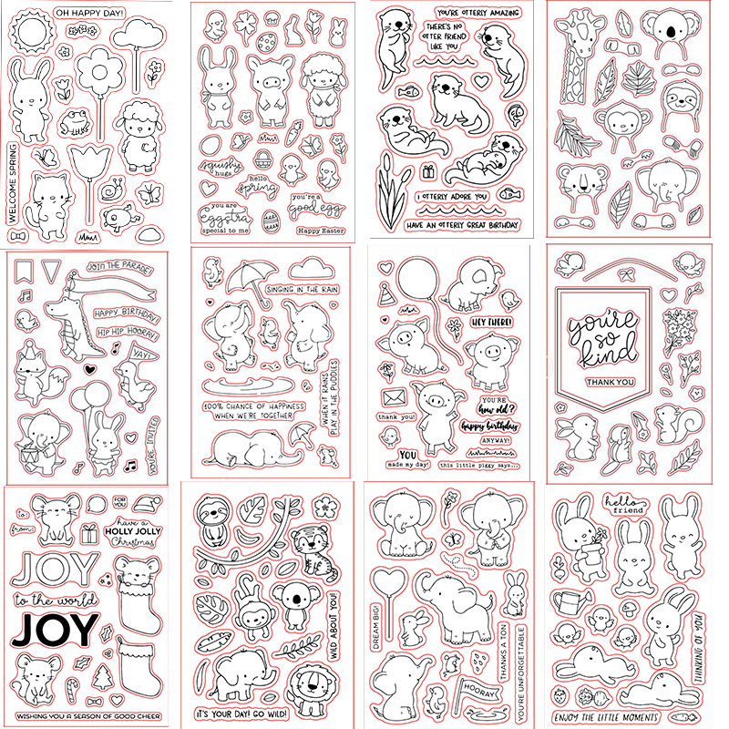 4*6inch ME Elephants Rabbits Piggy Monkey Tiger Lion Transparent Stamp Clear Stamps For DIY Scrapbooking Paper Cards Crafts 2019(China)