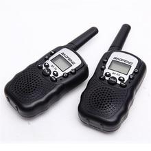 Conjunto Pedaço Baofeng Walkie talkie 2 BF T3 T388 GMRS Mini Handheld PMR Walkie talkie Crianças Sem Fio Rádio Civil bolsa de viagem
