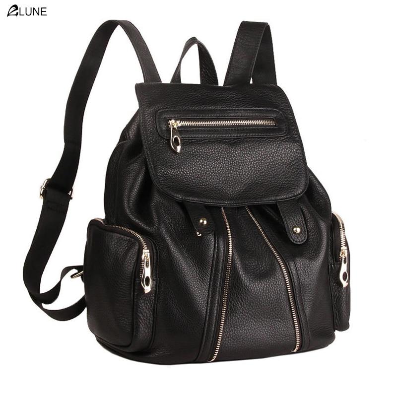 New 2016 Summer leather backpack bag fashion female package shoulders backpack Leather travel bag women bag