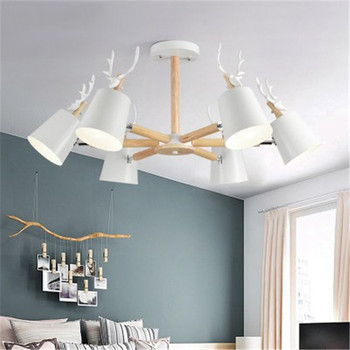Creative Nordic New Antler Multi-Head Chandelier Simple Fashion Restaurant Living Room Bedroom Hotel Lobby Hotel Chandelier