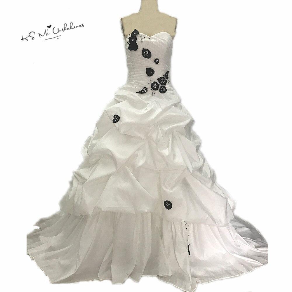 Черный и белый свадебное платье 2017 Кружево Robe De Mariage бальное платье невесты Платья для женщин Винтаж свадебные платья Турция свадебные плат