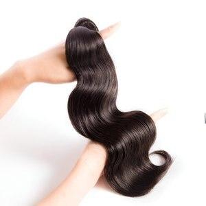Image 3 - 1/3/4 vücut dalga saç demetleri brezilyalı MS Lula ücretsiz kargo atkı insan olmayan Remy saç demetleri uzatma 30 32 34 36 38 40 inç