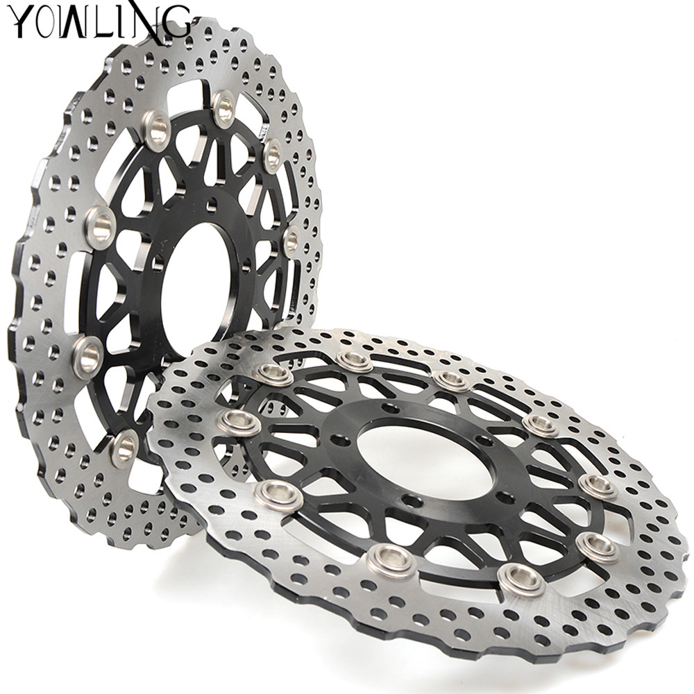 Motorcycle Parts Accessories Front Floating Brake Discs Rotor for KAWASAKI Z800 ZX-14R ZZR1400 GTR1400 2006 -2011 2012 2013 2014 starpad for lifan motorcycle lf150 10s kpr150 new front brake discs accessories