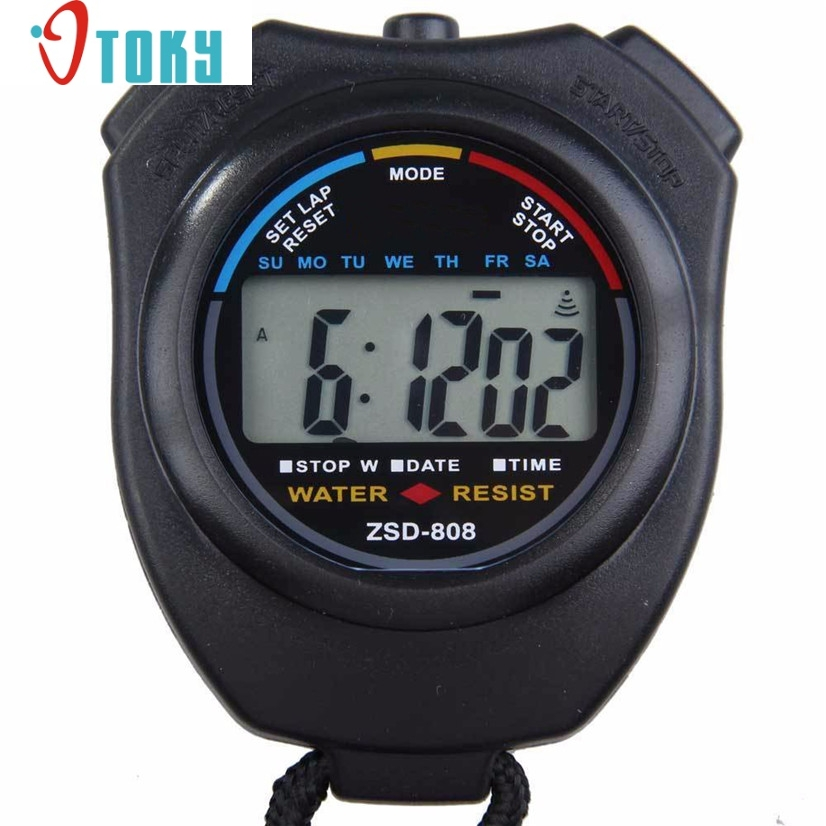 Novel Design Free Shipping Hot Digital Professional Handheld LCD Chronograph Sports Stopwatch Stop Watch May26 Dropshipping 6x aero vac filters for irobot roomba 620 630 650 robots with an aerovac bin page 2