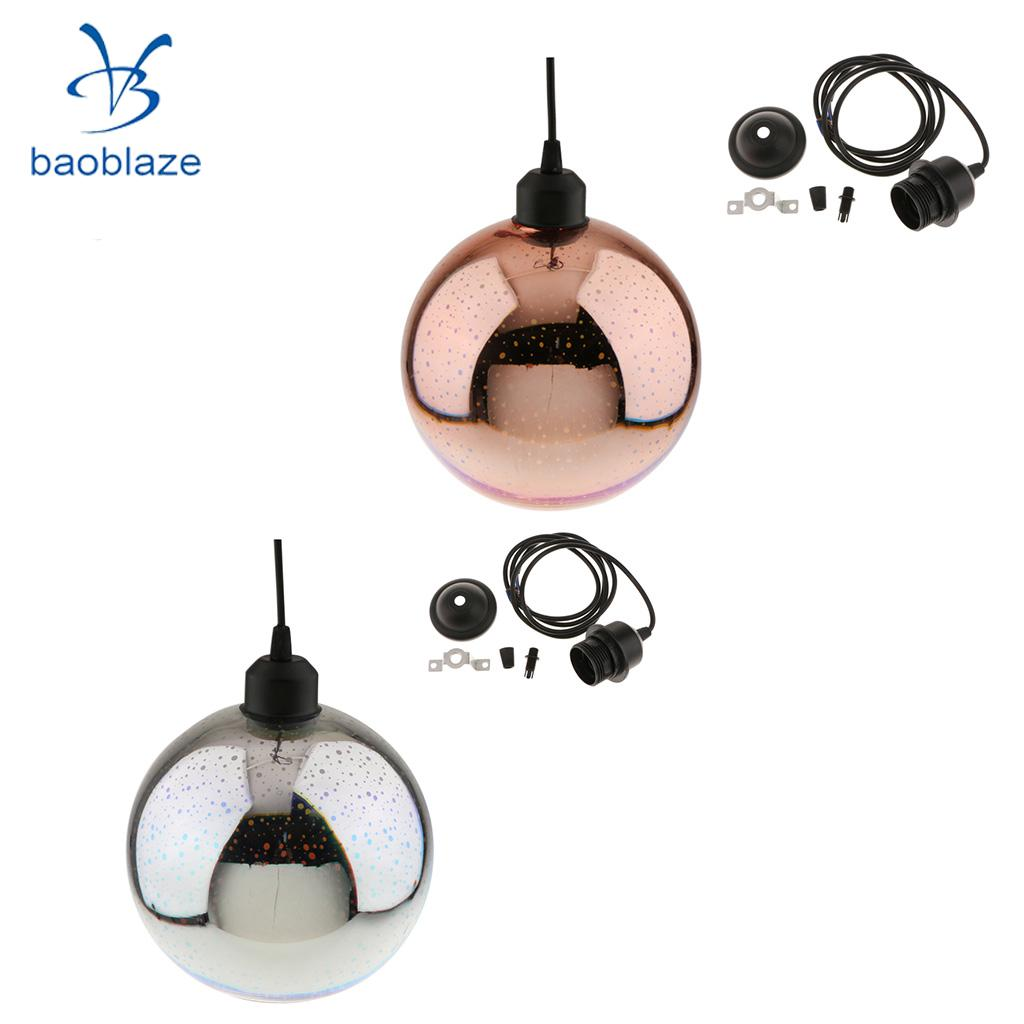2PCS E27 Base 3D Colorful Sparkling Lampshade Glass Chandelier Ceiling Lamp for Restaurant Home Bar Decor