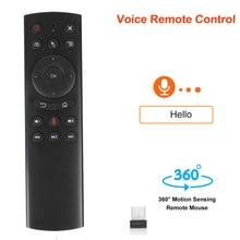 KEBIDU teclado inalámbrico G20S con sensor de movimiento, G20, Control por voz, Control remoto IR para Android TV Box PC