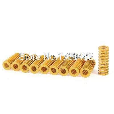 25mm x 10mm x 5mm Metal Tubular Section Mould Die Compression Spring 10pcs купить в Москве 2019